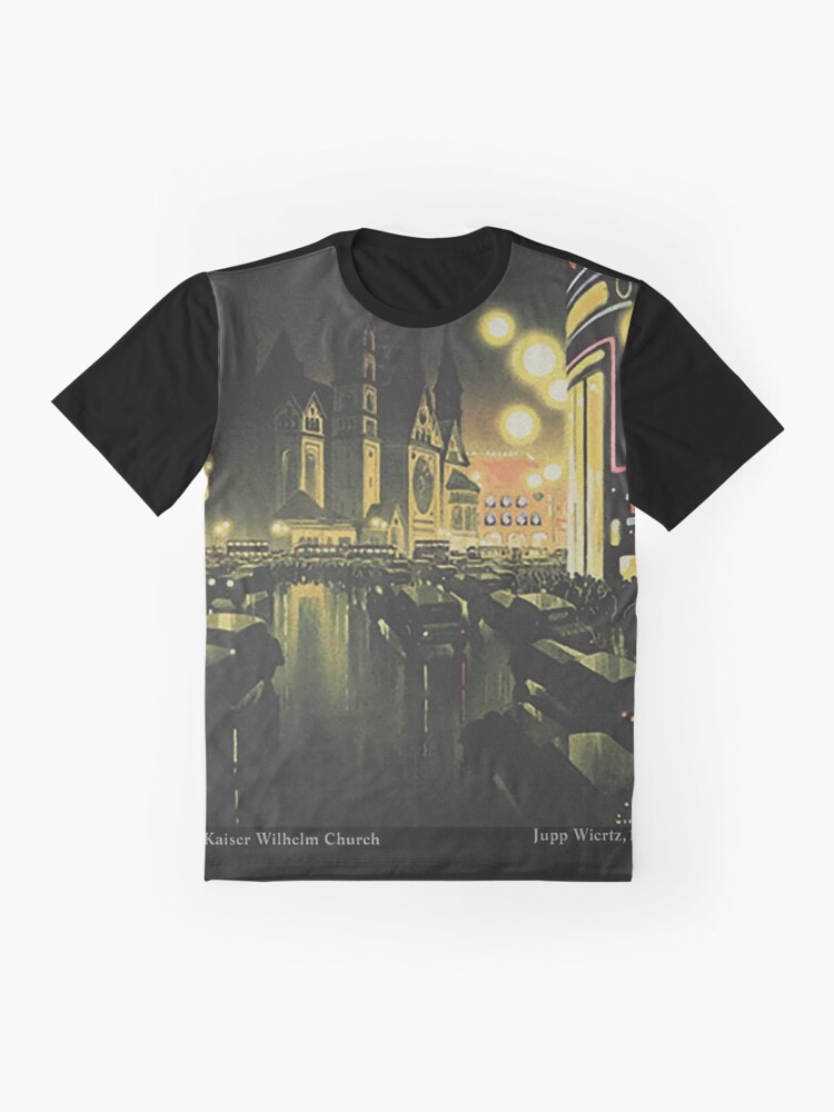 Alternate view of Berlin at Night, 1939 Graphic T-Shirt