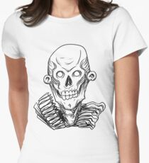 Zombie Skull Head Women's Fitted T-Shirt