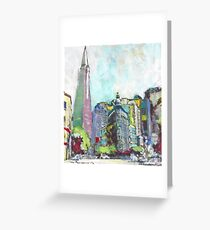The Streets of San Francisco California Greeting Card