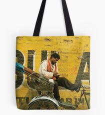 bicycle taxi, Varanasi Tote Bag
