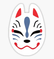 Japanese Fox Mask Sticker