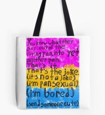 Coming Out: Pansexual (1) Tote Bag