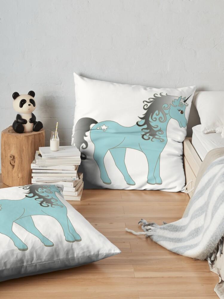 Alternate view of Cute Trendy UNICORN TShirt | Trendy Kidz Tees Floor Pillow