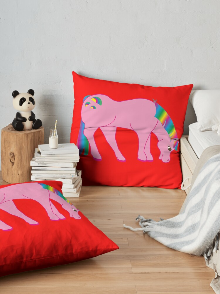 Alternate view of Cute Trendy UNICORN TShirt | Trendy Kidz Tees Floor Pillow