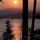 Sunset Over Burard Inlet by Wolf Read