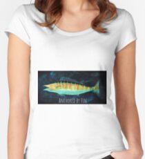 Verankert von Fin Tailliertes Rundhals-Shirt