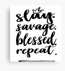 blessed word canvas prints redbubble Generation Z Chart slay blessed savage repeat words gen z use generation z words millennials use
