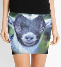 Portrait of a Goat - Pygmy Kid Mini Skirt