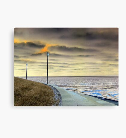 Dueling Lampposts Canvas Print