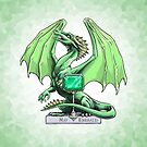 Birthstone Dragon: May Emerald Illustration by Stephanie Smith