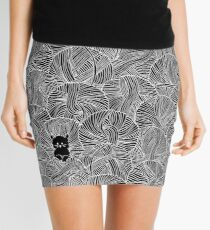 Yarn Ball Pit in Black Mini Skirt
