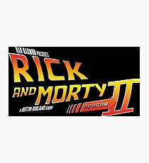 Rick and Morty Season 2 - BTTF Logo Photographic Print