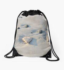 Pebbles on the sand Drawstring Bag