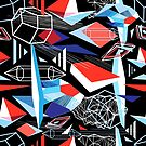 Vector abstract multicolored geometric pattern by Tanor
