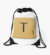 Scrabble Tile - T Drawstring Bag