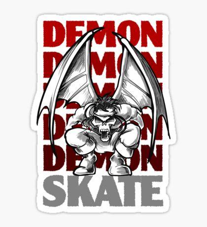 Skull Demon Skate, Skateboard Design Sticker