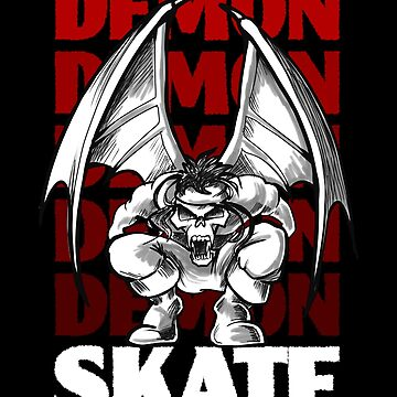 Skull Demon Skate, Skateboard Design by etourist