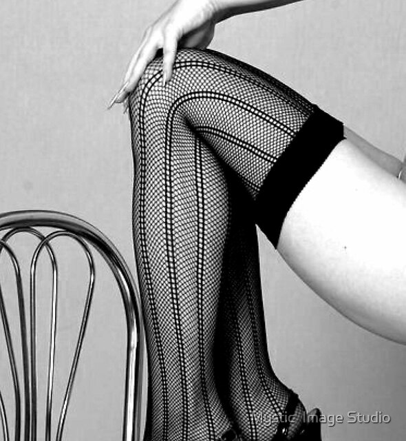 Striped Stockings 2 by OntheroadImage