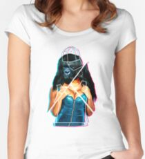 MOMMA Women's Fitted Scoop T-Shirt