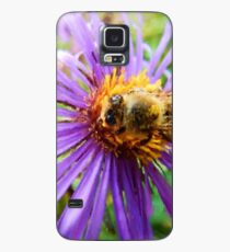 Fat Bumblebee Radiant Purple Aster Painting Case/Skin for Samsung Galaxy