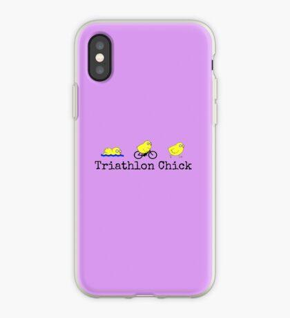 Triathlon Chick iPhone Case