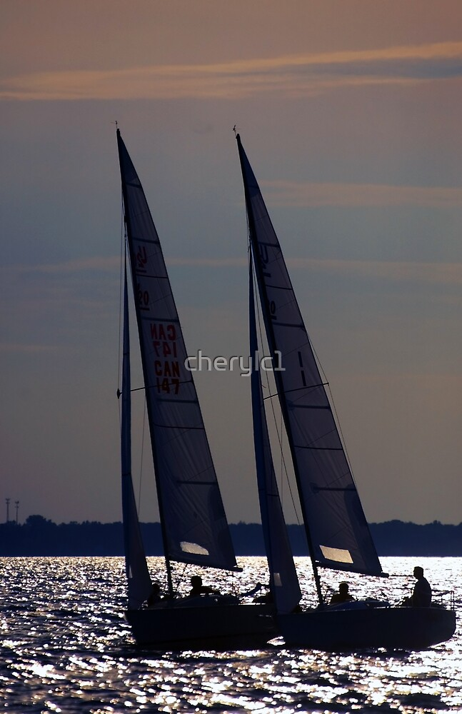 Sailing Lake Huron by cherylc1