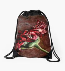 Red Dishevelled Drawstring Bag