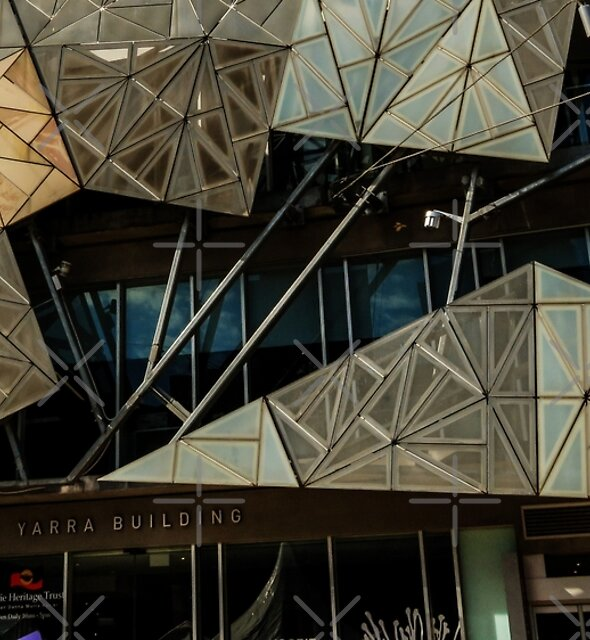 Shapes! Yarra Building. by Barbara Caffell