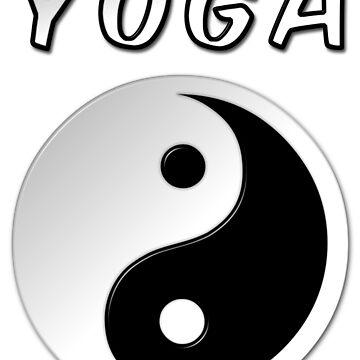Yoga With Yin Yang Symbol by MarkUK97