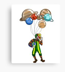 Astro clown from the circus Canvas Print