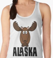 Cartoon Moose, Alaska Women's Tank Top