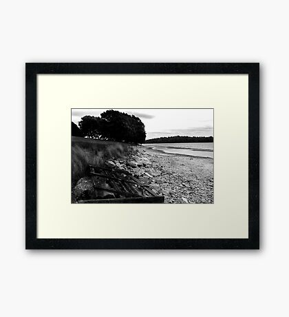 Broken Gate - Rutland Water Framed Print