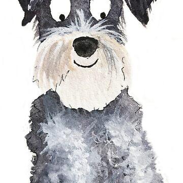 Happy Schnauzer Dog by archyscottie