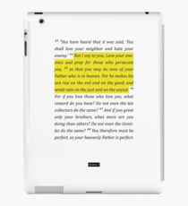 Matthew 5 iPad Case/Skin