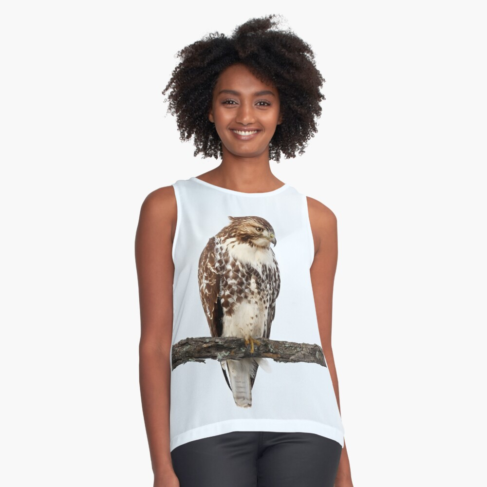 Red-tailed Hawk - Perched Contrast Tank Front