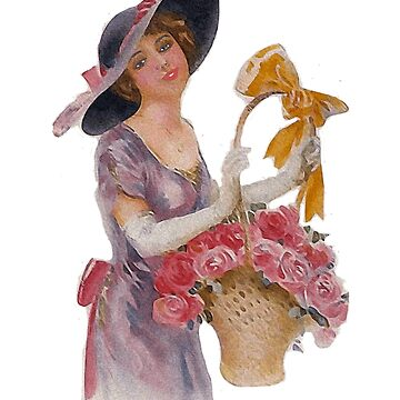Lady with a flower basket by boogeyman