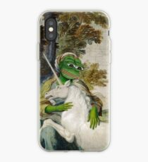 Medieval Unicorn And Girl Pepe Title The Frog Domenichino Unicorn Pal Farnese by Unknown Fine Art Print Rare PepeTheFrog Vintage Kekistani Renaissance painting girl with unicorn iPhone Case