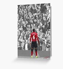 Manchester United's Paul Pogba 2018 Greeting Card