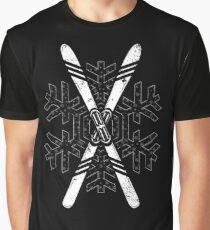 Race Skis Ski Racing Winter Ski Shirt Downhill Ski Shirt Graphic T-Shirt