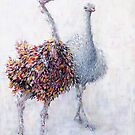 Ostrich Couple by Carmen de Bruijn