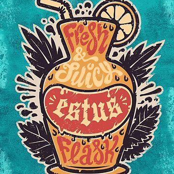 Colorful Summer Estus Cocktail Flask by Voysla