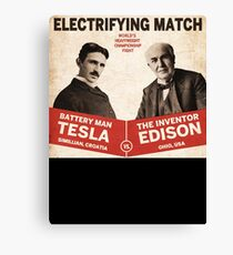 Edison vs Tesla Canvas Print