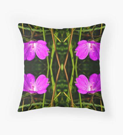 Cranesbill, Dun Eochla, Inishmore, Aran Islands Floor Pillow