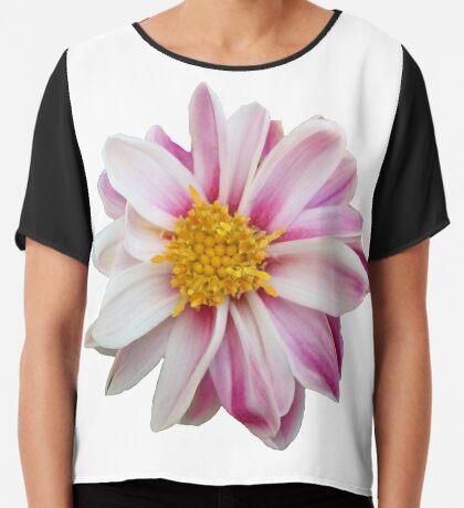 tolles Blütendesign in weiß / pink Chiffontop für Frauen