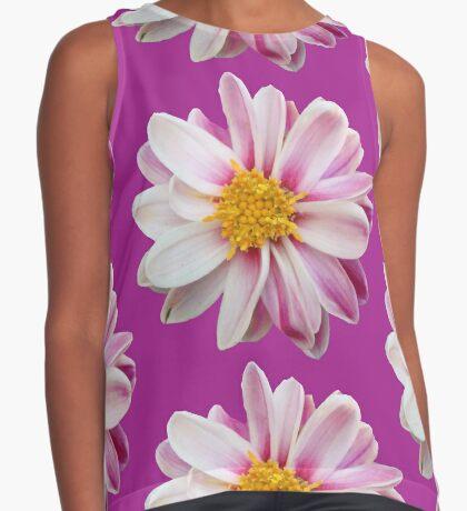 tolles Blütendesign in weiß / pink Kontrast Top