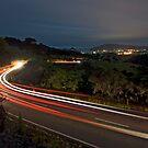Lights to Tairua. by Michael Treloar