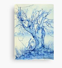 A tree in the veld Canvas Print