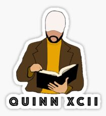 Quinn XCII Cartoon Title Sticker