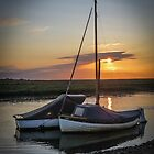 At anchor at sunset by Sue Purveur
