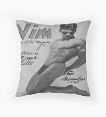 VIM Magazine Cover 1940, Vintage Homoerotica Throw Pillow